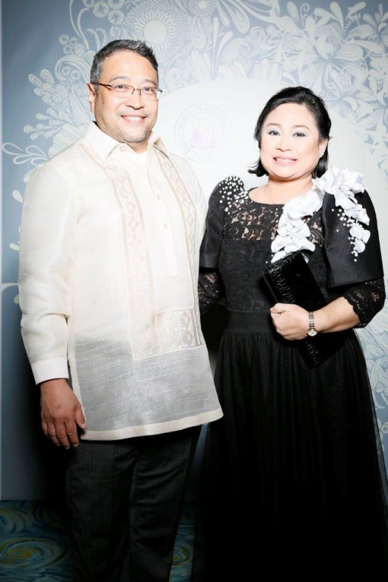 Entrepreneurs Jovy and Janet Tuano of the Phil Business Council - Abu Dhabi