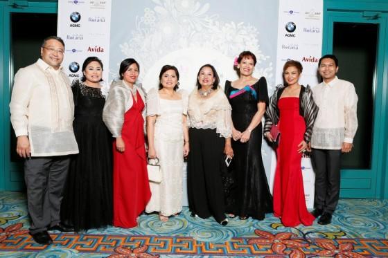 Key members of the Philippine Business Councils of Dubai and Abu Dhabi with Mme Lucila Cimafranca L-R: Jovy and Janet Tuano, Agnes Pedrosa Marelid, Mme Lucila Cimafranca, Lucille Ong, Bobbie Carella, Agnes Aquino-Briggs and Atty. Barney Almazar
