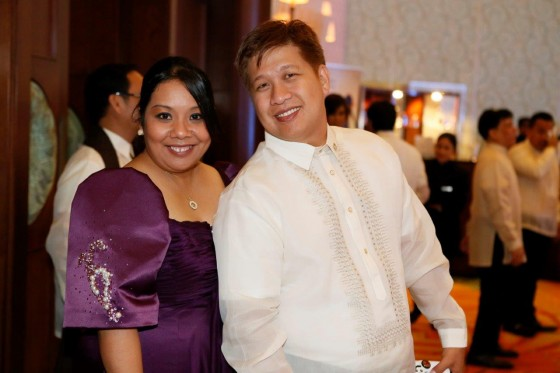 Cultural Officer Cheche Caparas and husband