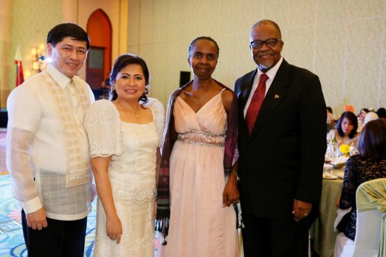 Consul Gen Frank and Mme Lu Cimafranca with guests