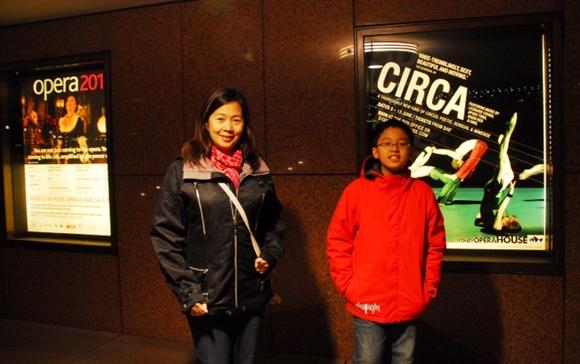 At the Opera House inSydney