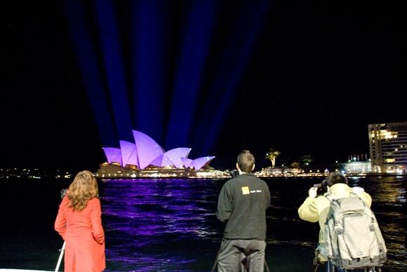Laser Light at Opera House in Sydney