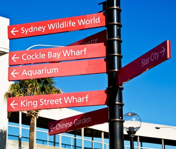 Signs at Darling Harbour