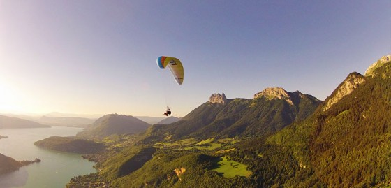 Para-gliding in French Alps