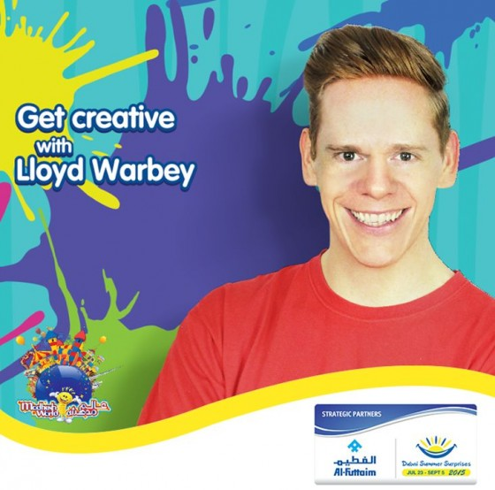 Lloyd Warbey host of Art Attack in Dubai