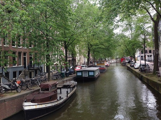 canal network in Amsterdam