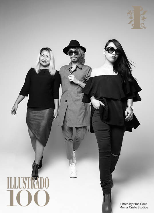 L-R: Cristina Linaza, Ushi Sato and Mahryska Gaspacho Filipino Fashion Bloggers - Photo by Eros Goze for Illustrado Magazine
