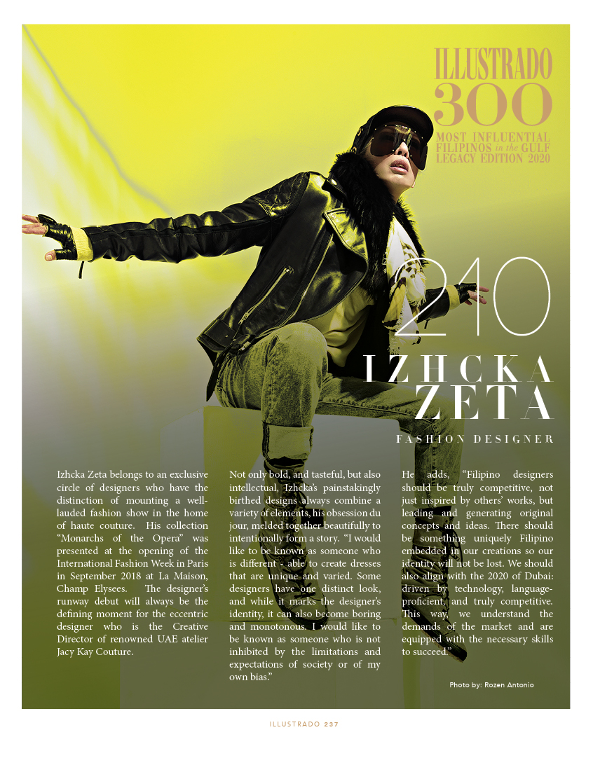 Izhcka Zeta - Illustrado 300 Most Influential Filipinos in the Gulf
