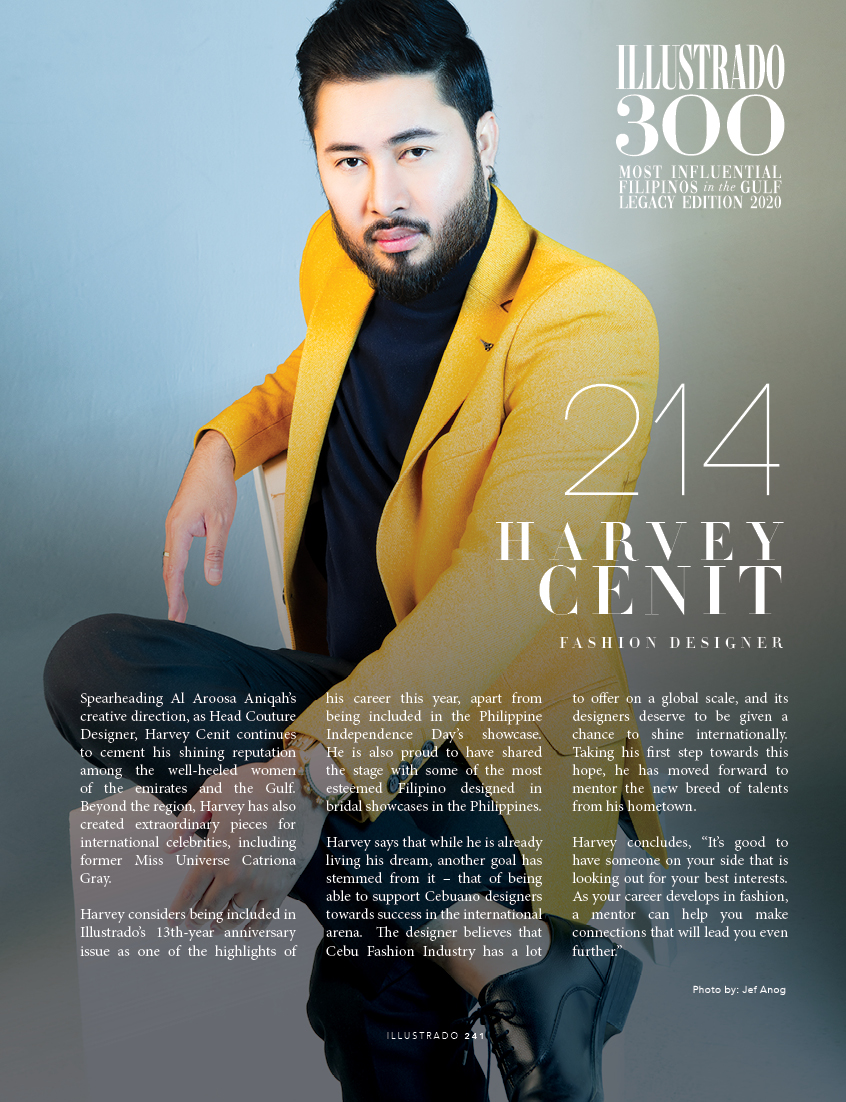 Harvey Cenit - Illustrado 300 Most Influential Filipinos in the Gulf
