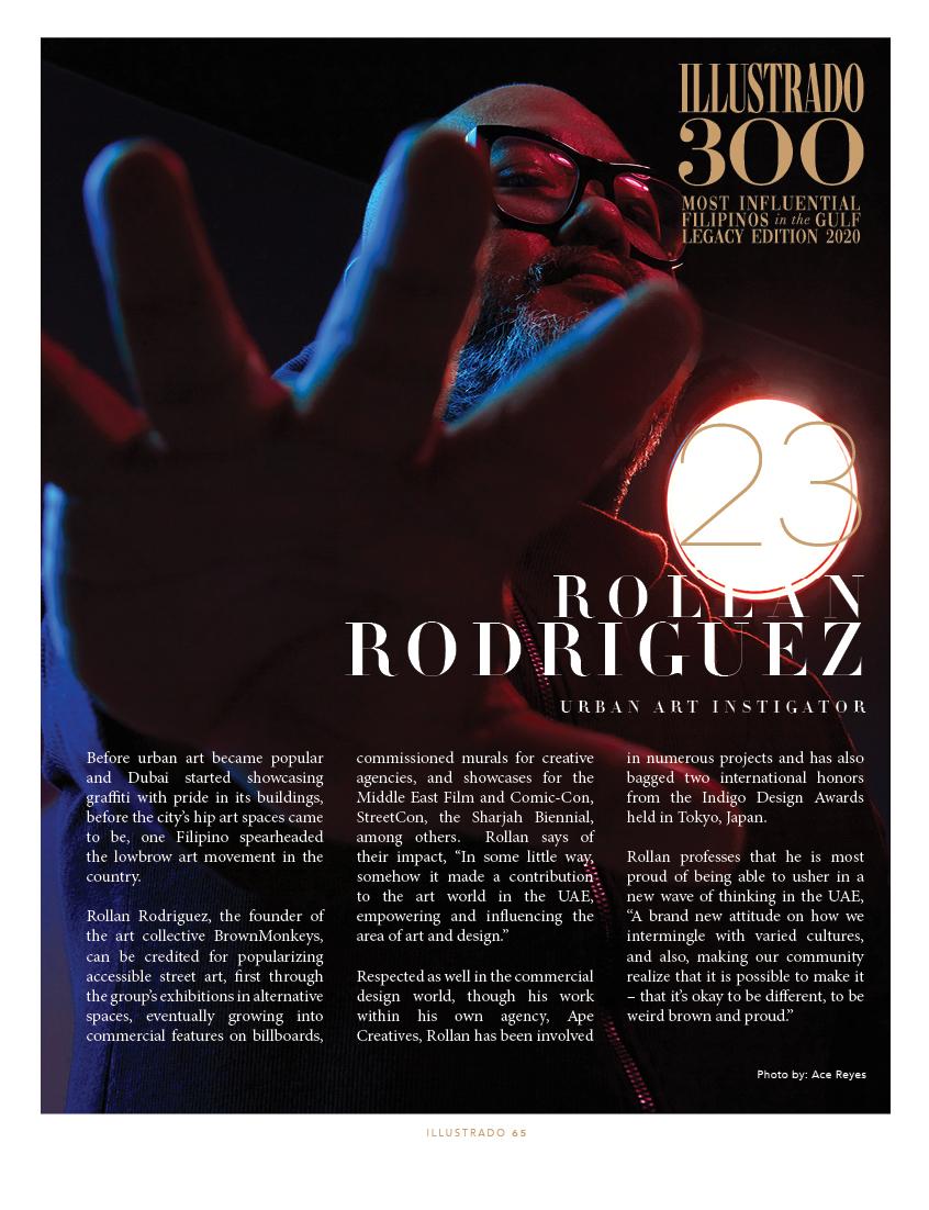Rollan Rodriguez - Illustrado 300 Most Influential Filipinos in the Gulf