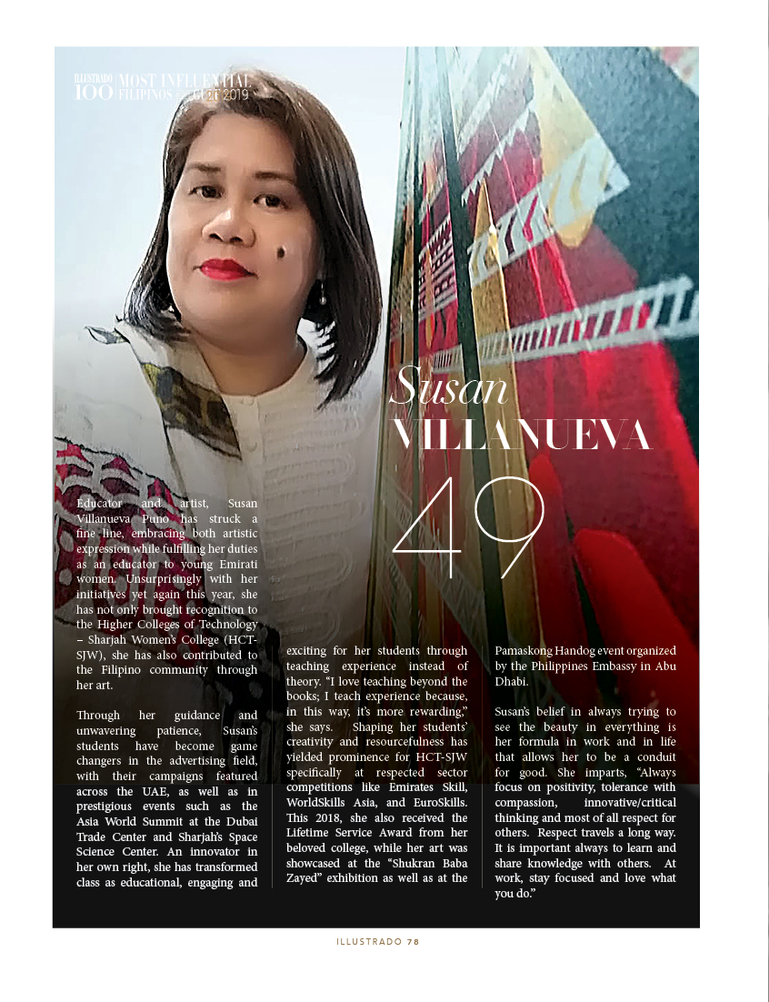 Susan Villanueva Puno - Most Influential Filipinos in the Gulf 2018