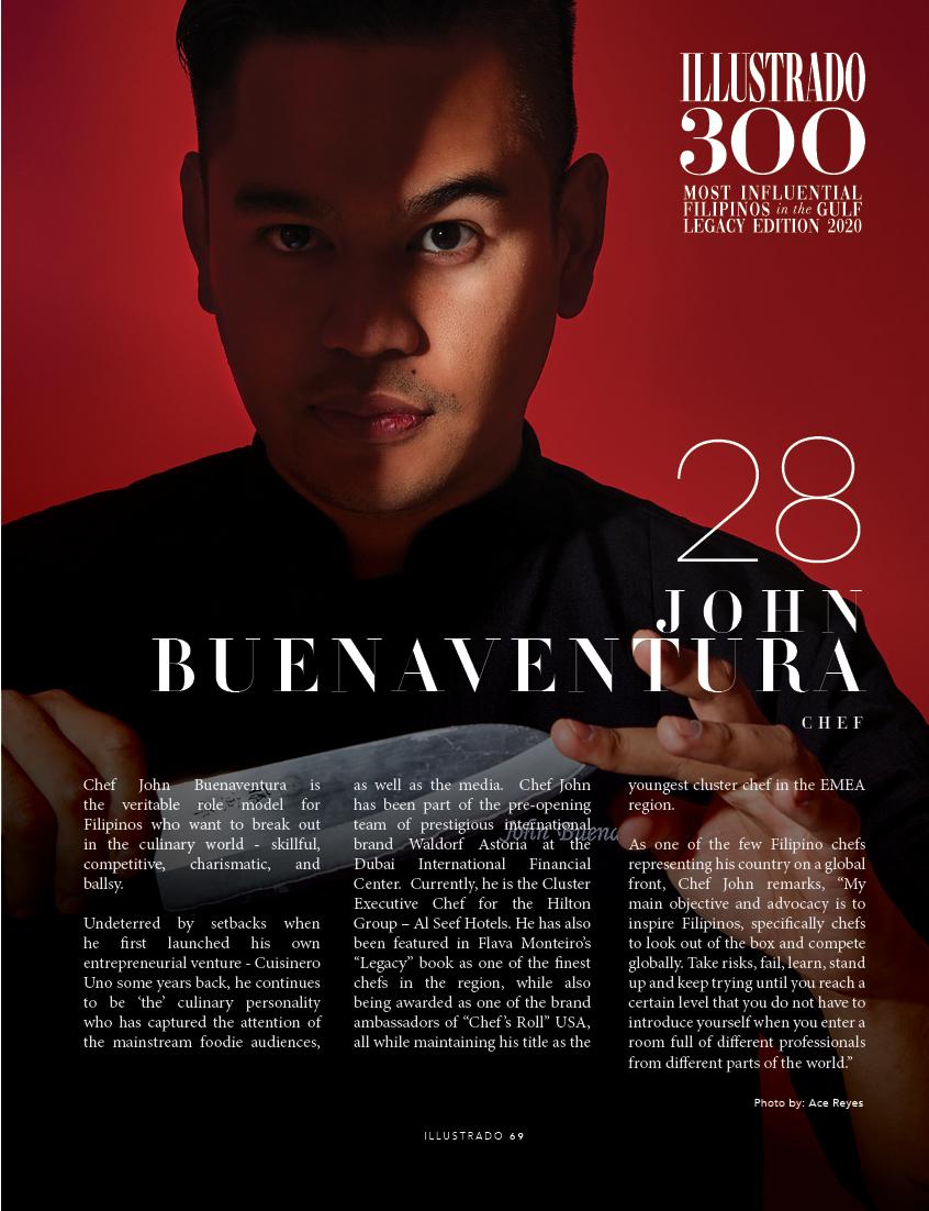 Chef John Buenaventura - Illustrado 300 Most Influential Filipinos in the Gulf