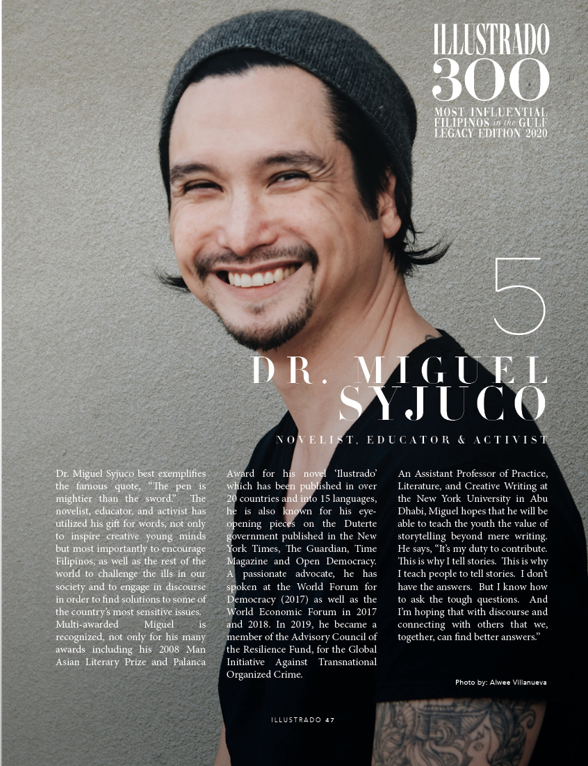 Miguel Syjuco - Illustrado 300 Most Influential Filipinos in the Gulf