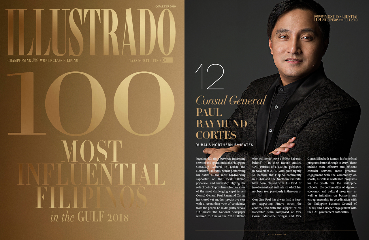 32b62725695b Consul General Paul Raymund Cortes – Most Influential Filipinos in the Gulf  2018