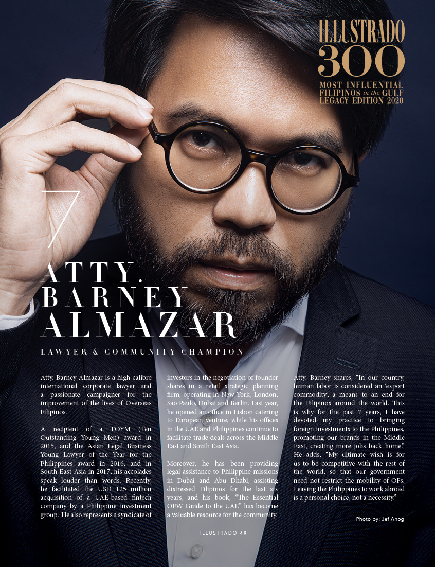 Atty. Barney Almazar - Illustrado 300 Most Influential Filipinos in the Gulf