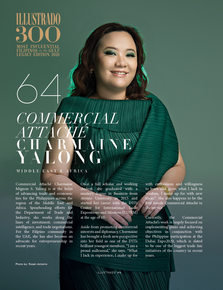 Commercial Attaché Charmaine Yalong - 300 Most Influential Filipinos in the Gulf