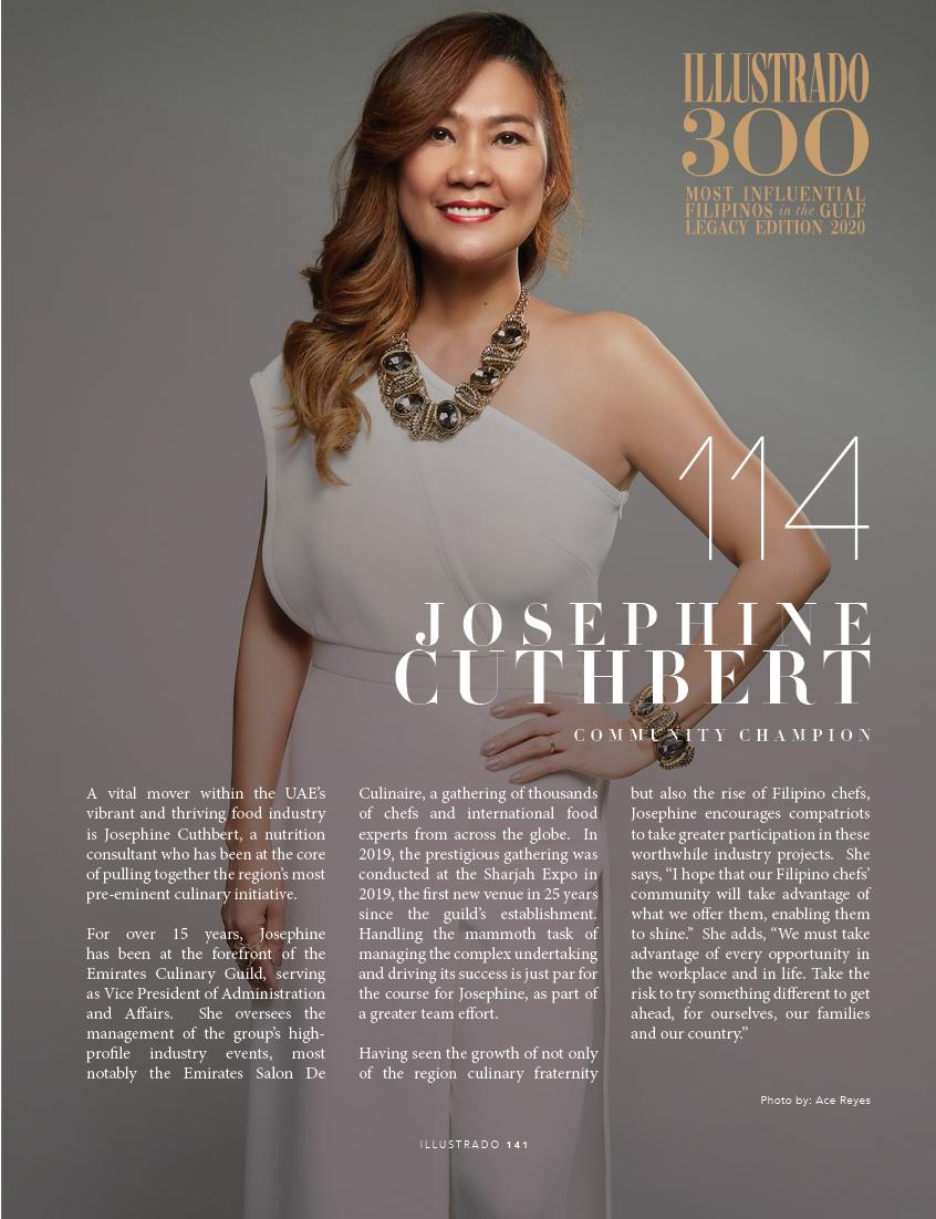 Josephine Cuthbert - Illustrado 300 Most Influential Filipinos in the Gulf