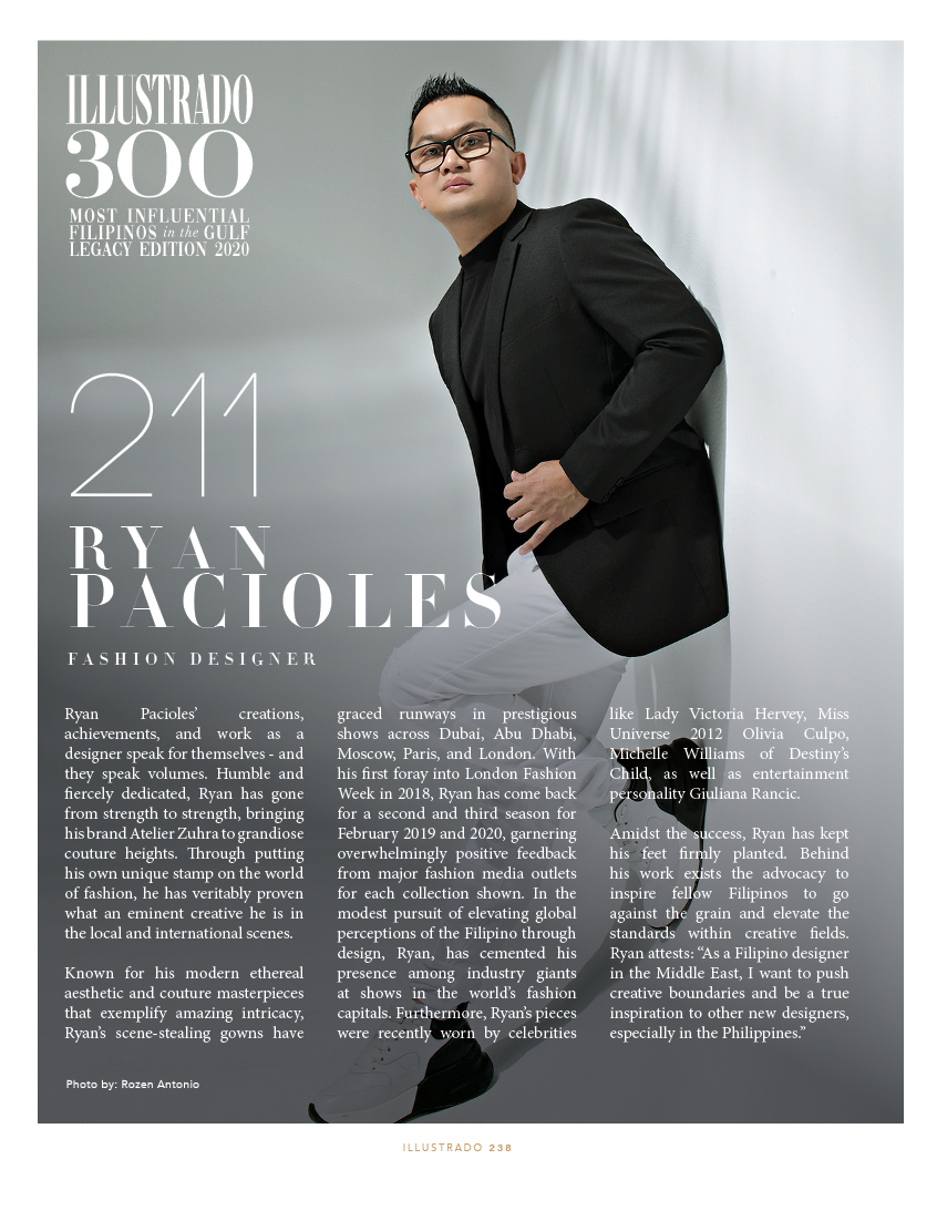 Ryan Pacioles - Illustrado 300 Most Influential Filipinos in the Gulf
