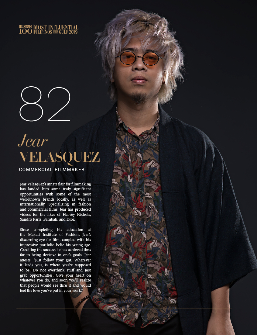 Jear Velasquez - Most influential Filipinos in the Gulf 2018