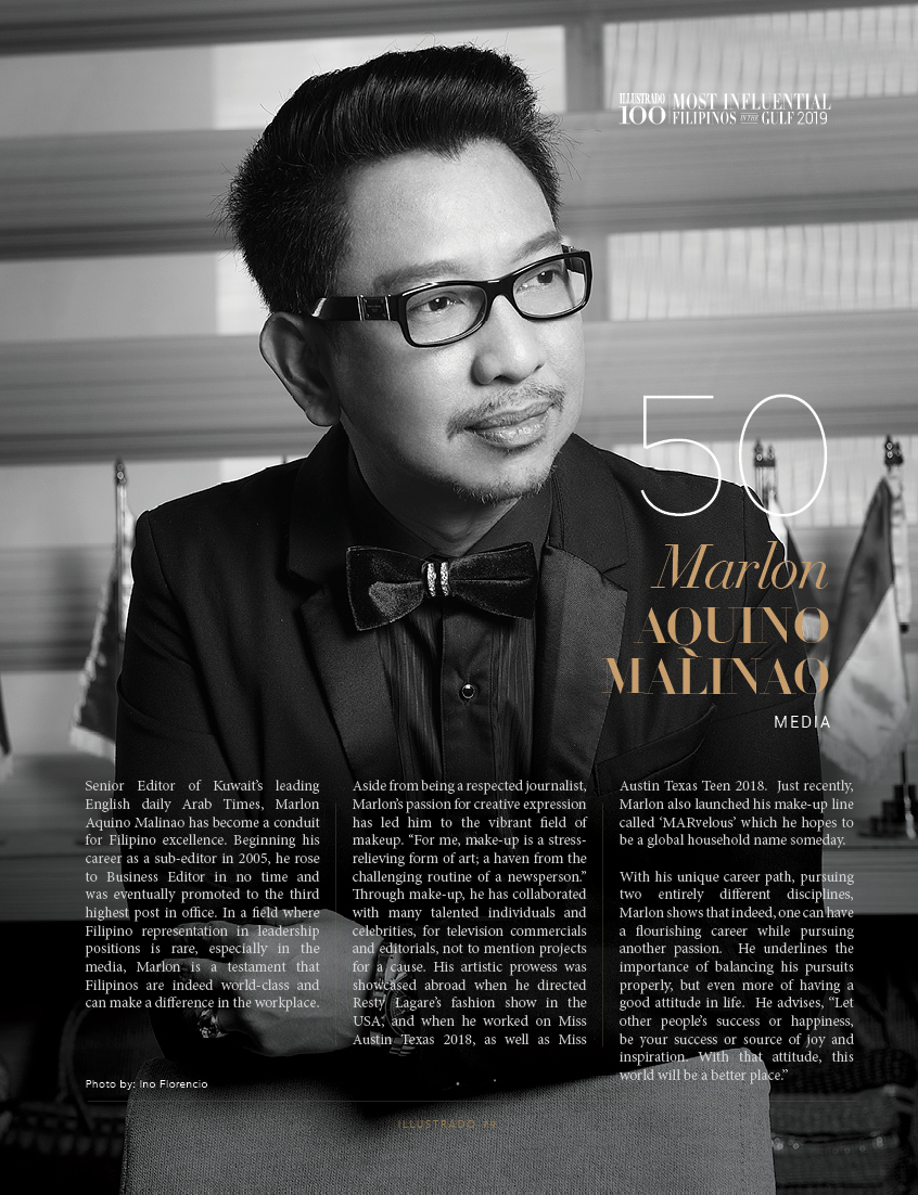 Marlon Aquino Malinao - Most Influential Filipinos in the Gulf 2019