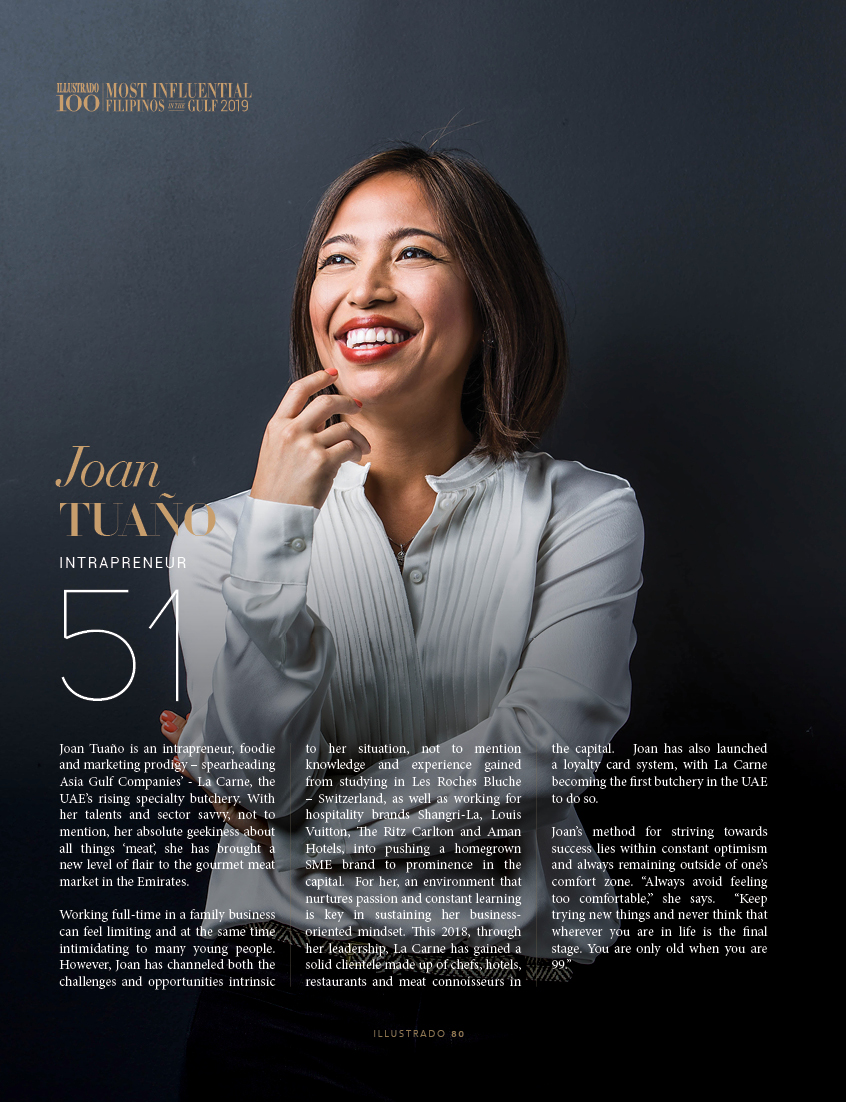 Joan Tuaño - Most influential Filipinos in the Gulf 2018