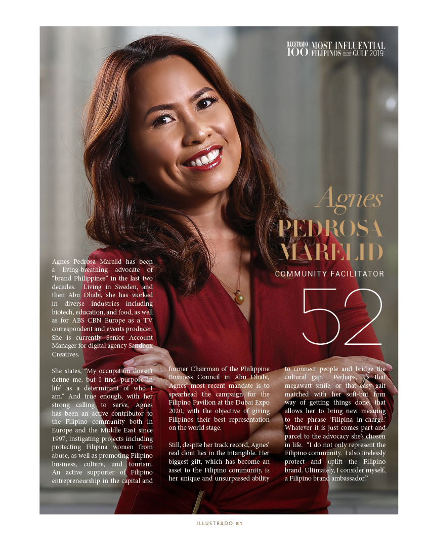 Agnes Pedrosa Marelid - Most influential Filipinos in the Gulf 2018