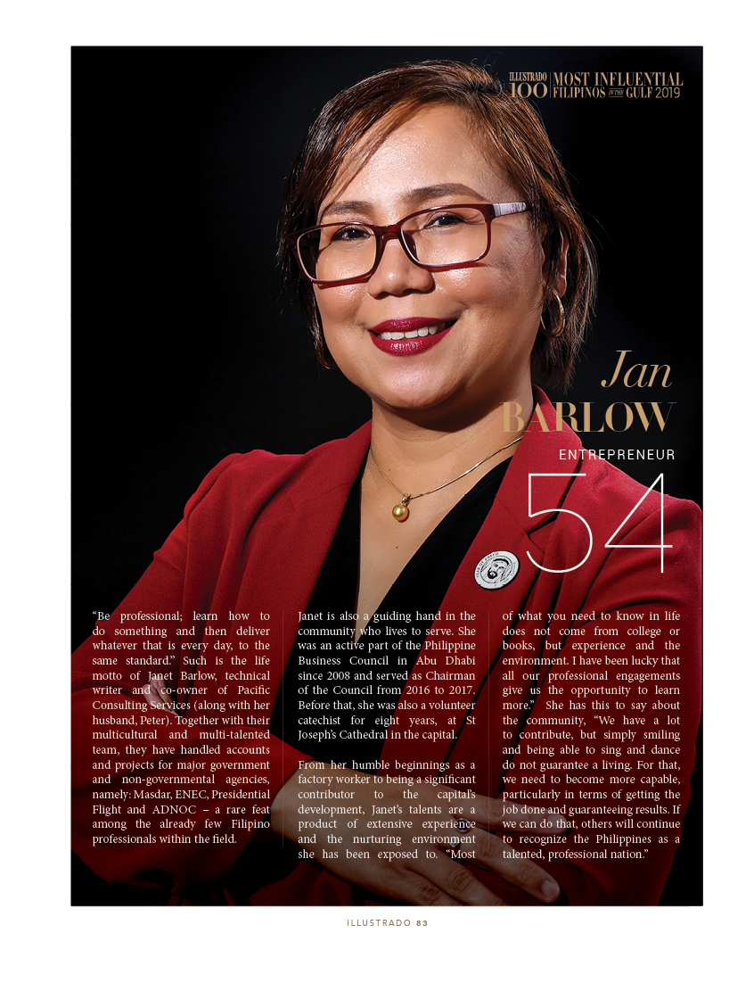 Jan Barlow - Most influential Filipinos in the Gulf 2018