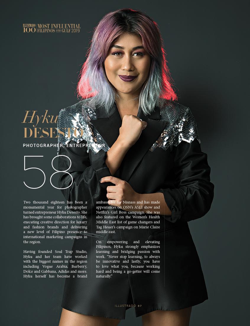 Hyku Desesto - Most influential Filipinos in the Gulf 2018