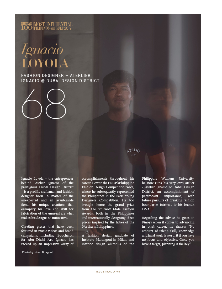 Ignacio Loyola Illustrado 300 Most Influential Filipinos In The Gulf Illustrado Magazine Filipino Abroad