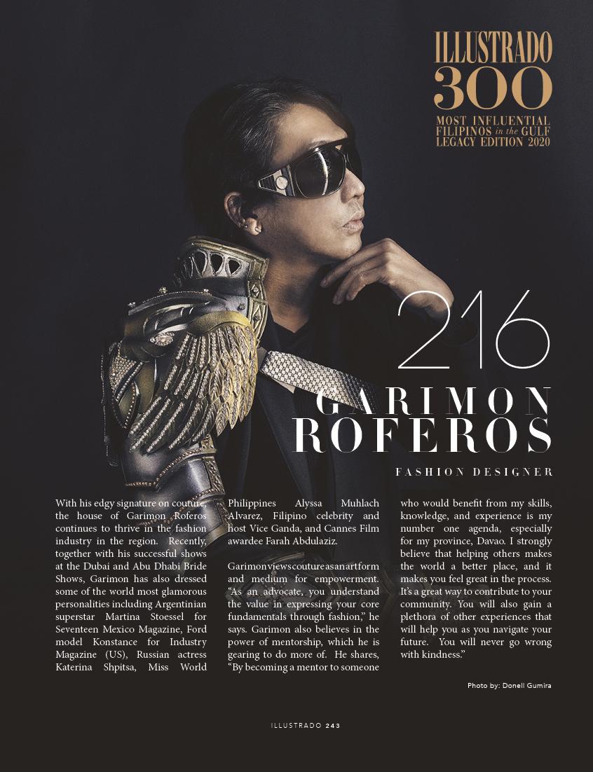 Garimon Roferos - Most influential Filipinos in the Gulf 2018