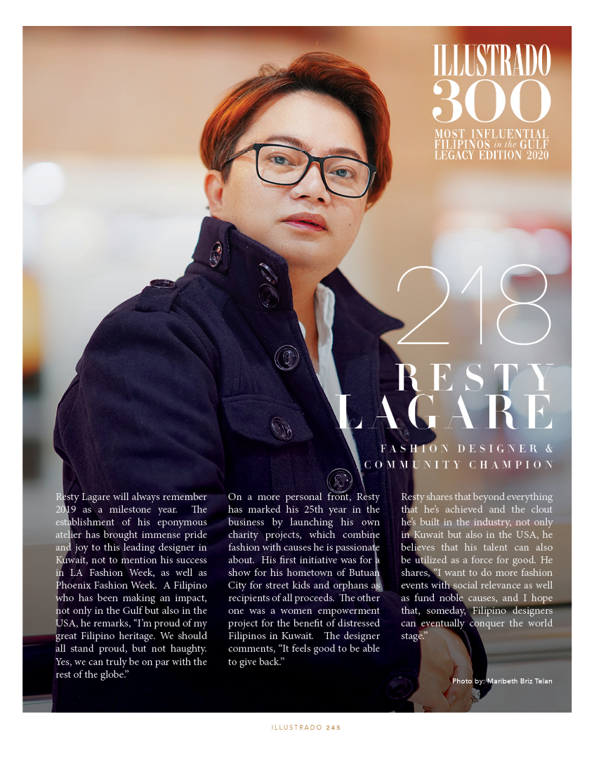 Resty Lagare - Illustrado 300 Most Influential Filipinos in the Gulf
