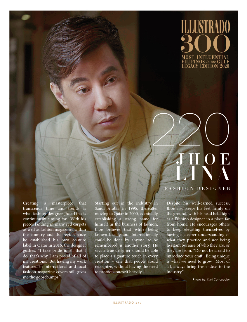 Jhoe Lina - Illustrado 300 Most Influential Filipinos in the Gulf