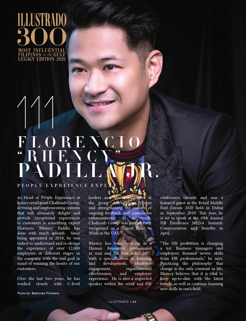 Florencio Padilla Jr - Illustrado 300 Most Influential Filipinos in the Gulf