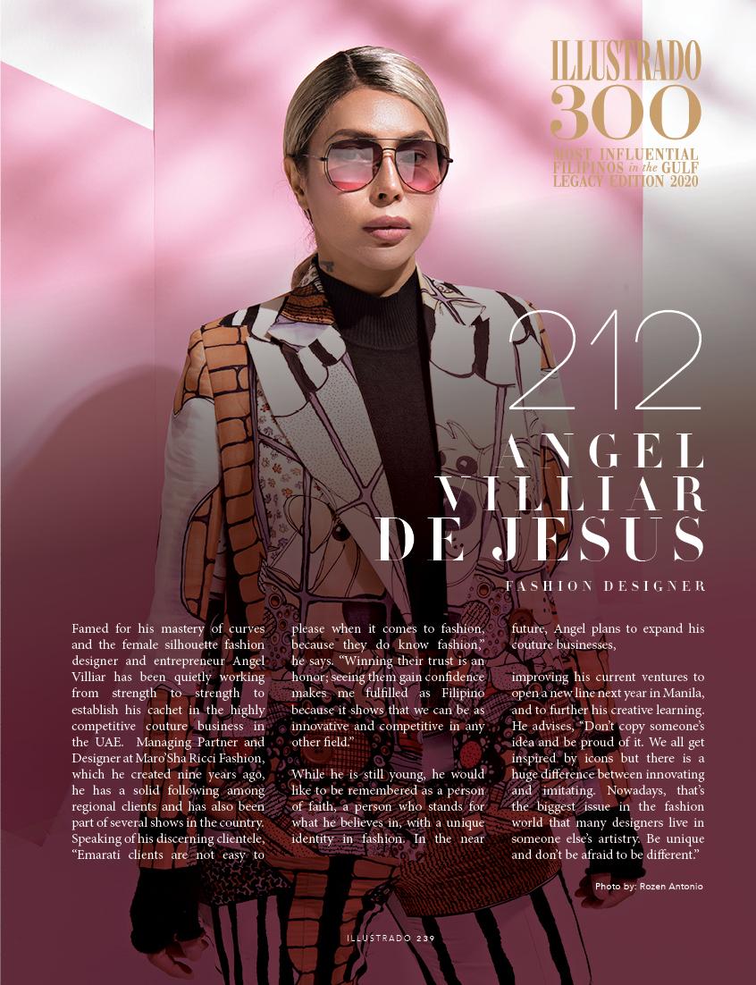 Angel Villar De Jesus - Illustrado 300 Most Influential Filipinos in the Gulf