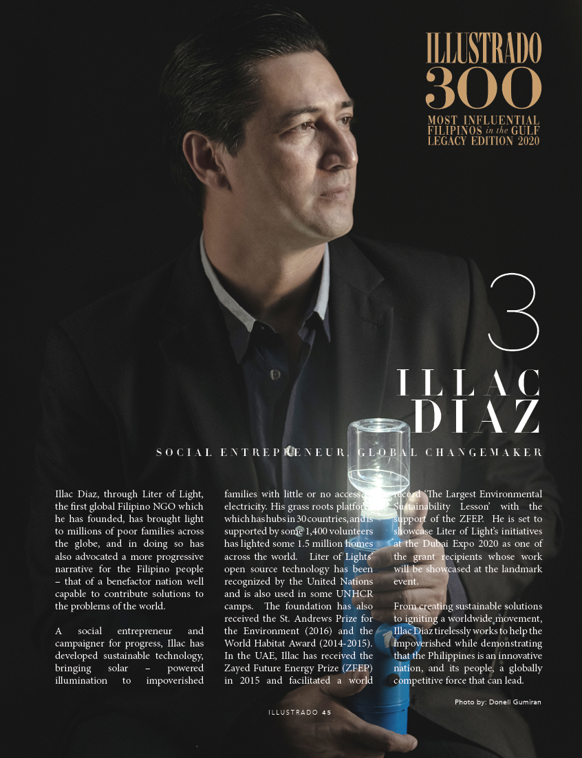 Illac Diaz - Illustrado 300 Most Influential Filipinos in the Gulf