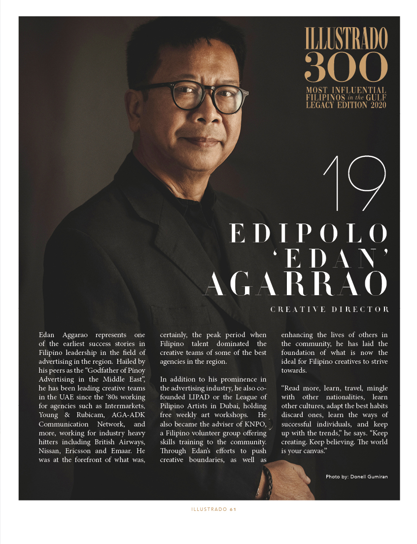 Edipolo Aggarao - Illustrado 300 Most Influential Filipinos in the Gulf