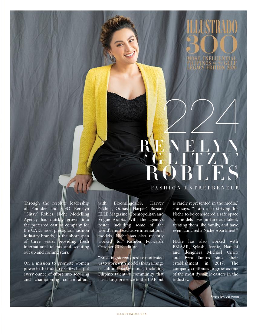 Glitzy Robles - Illustrado 300 Most Influential Filipinos in the Gulf