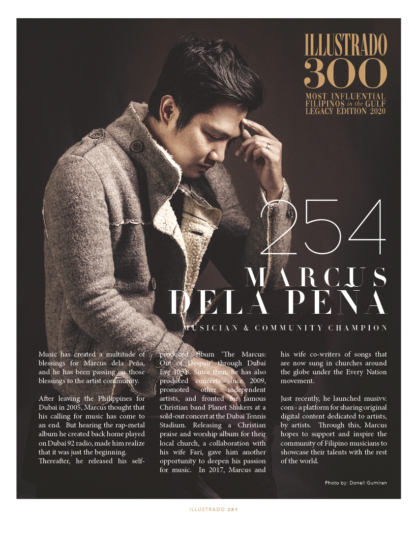 Marcus Dela Peña - Illustrado 300 Most Influential Filipinos in the Gulf